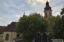 Odenwald: Maria-Himmelfahrt-Kirche in Schriesheim - Foto: Stefan Frerichs / RheinWanderer.de